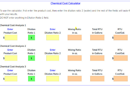 Dilution Cost Calculator