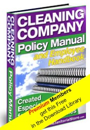 Cleaning Company Policy Manual And Employee Handbook For Residential  Cleaning Companies (MS Word Format Download)