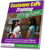 Customer Care Training Program for Residential Cleaning Companies