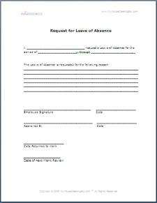 leave of absence form template - anuvrat.info