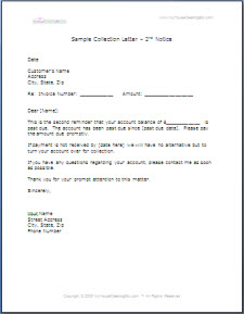 Company forms this collection letter requests immediate payment of the account and lets your customer know that if they dont pay by the date requested youll turn it thecheapjerseys Choice Image